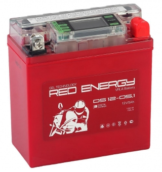 АКБ 12V  5 А/ч RE1205,1 Red Energy DS 120x61x129
