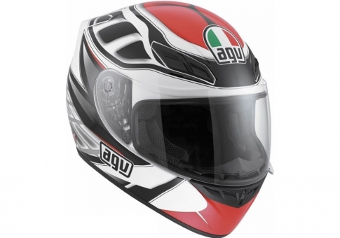 Шлем K-4 EVO AGV E2205 MULTI - DIAPASON WHITE/BLACK/RED