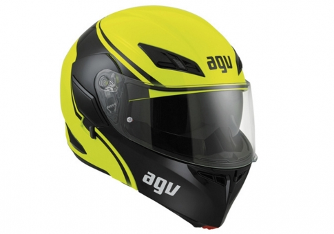 Шлем AGV COMPACT ST E2205 MULTI PLK  COURSE YELLOW/BLACK