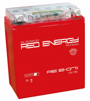 АКБ 12V  7 А/ч RE1207,1 Red Energy 114x71x131