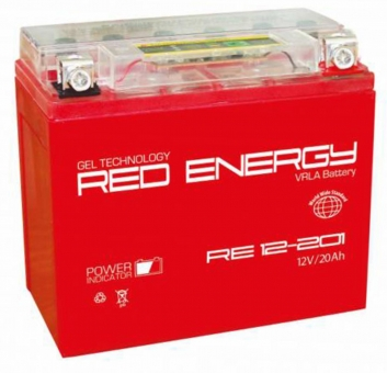 АКБ 12V 20 А/ч RE1220,1 Red Energy 177x88x154