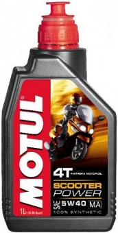 Масло MOTUL Scooter Power 5W-40 SJ/MA 4Т синт. 1л.