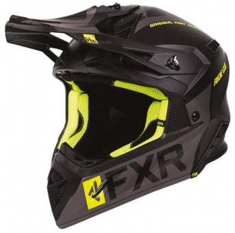 Шлем FXR Helium Ride Co, взрослые Black/Hi Vis