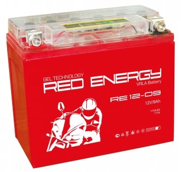 АКБ 12V  9 А/ч RE1209 Red Energy 150x86x108