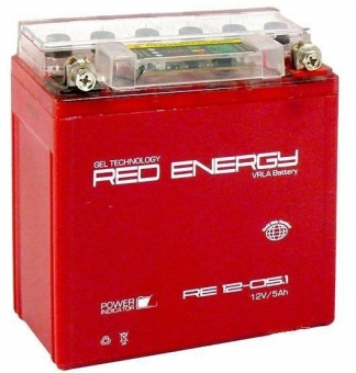 АКБ 12V  5 А/ч RE1205,1 Red Energy 120x61x129