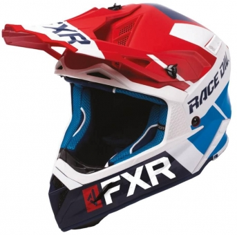 Шлем FXR Helium Race Div, взрослые Red/White/Navy/Blue