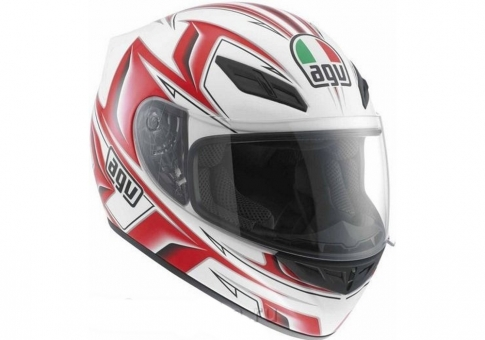 Шлем K-4 EVO AGV E2205 MULTI - ARROW WHITE/RED