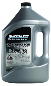 Масло QUICKSILVER 25W-40 4T п/с. 4 л.