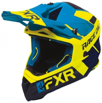 Шлем FXR Helium Race Div, взрослые Blue/Hi Vis/Navy