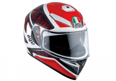 Шлем K-3 SV AGV E2205 MULTI PLK -  PULSE WHITE/BLACK