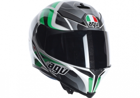 Шлем K-5 AGV E2205 MULTI - TRASFORMER WHITE/BLACK/GREEN